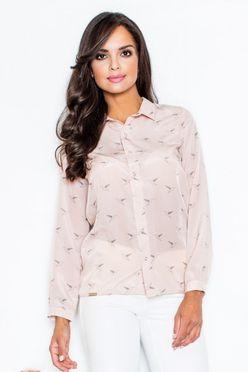 Ružová dámska košeľa FG M284
