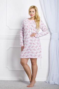 Ružová dámska nočná košeľa Malina
