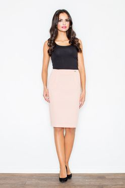 Ružová dámska puzdrová sukňa M260