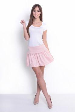 Ružová dámska mini sukňa OX 10008