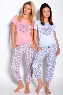 Ružové dámske pyžamo CLEO