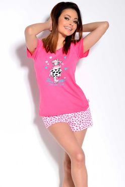 Ružové dámske pyžamo Matylda 1114