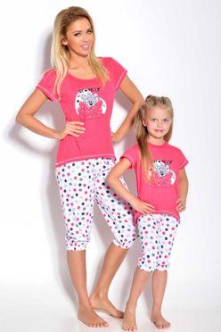 Ružové dámske pyžamo s mackom Tola