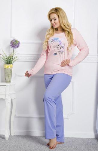 Ružové dámske pyžamo Silvia 259 k1