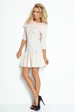 Ružové krátke šaty s ovinutím cez plecia 108-1