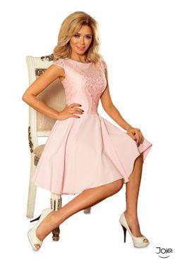 fa72a97ec8c9 Ružové spoločenské áčkové šaty MARTA 157-4