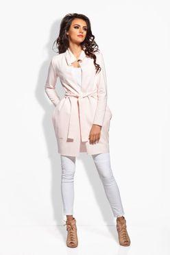 Ružový zavinovací plášť s vreckami