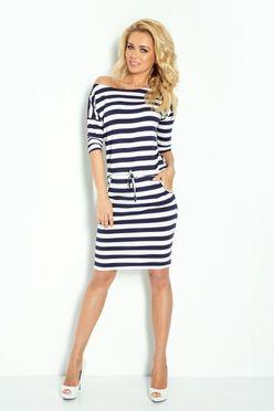 52d2114ace73 Krátke elastické námornicke dámske šaty 27-16 - JOIE.SK
