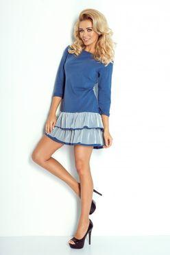 Krátke šaty s volánovou sukňou 106-1