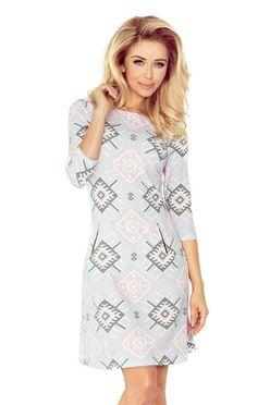 Krátke šaty so zipsmi v pastelových farbách 38-21