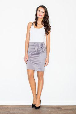 Šedá krátka puzdrová sukňa M080