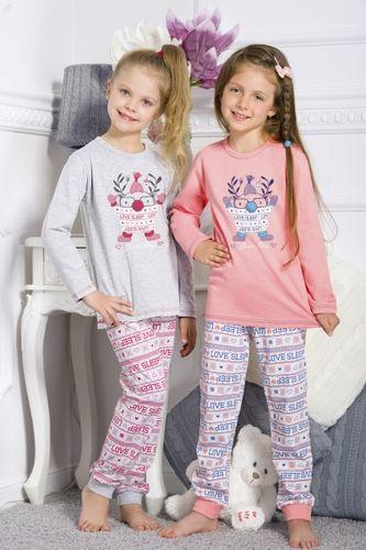 Šedé dievčenské pyžamo ELZA