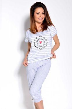 Šedé dámske pyžamo Simona 1113