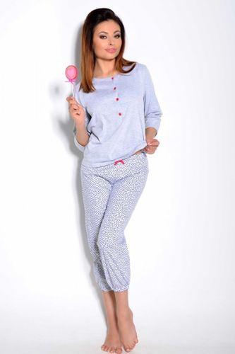 Šedé dámske pyžamo Teresa 1128