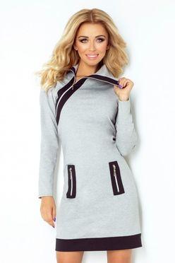 Slávnostné dámske šaty s tylovými rukávmi 141 5 - JOIE.SK 3caf95a4b65