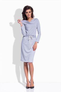 Šedé bavlnené šaty so šnúrkou 150