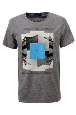 Šedo-modré pánske tričko MPO1911