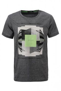 Šedo-zelené pánske tričko MPO1911