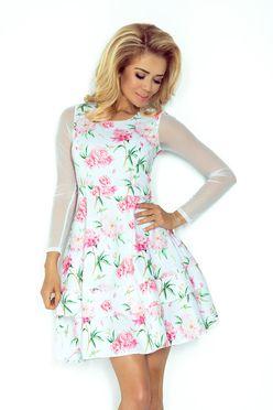 Slávnostné dámske šaty s tylovými rukávmi 141 5 09ca82ec514