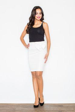 Smotanová krátka dámska sukňa M080
