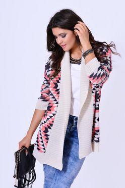 Dámsky sveter IRYS s korálovým vzorom