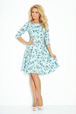 a2c461e601d6 Svetlomodré dámske šaty s 3 4 rukávom 115-1