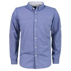 Tmavomodrá pánska košeľa MCS 9659