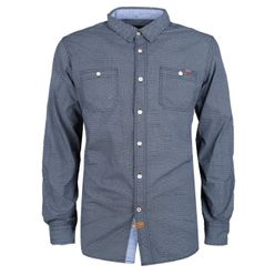 Tmavomodrá pánska košeľa MCS 9670