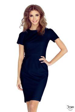 f36a7efae1370 Tmavomodré letné puzdové šaty DOROTA 150-1