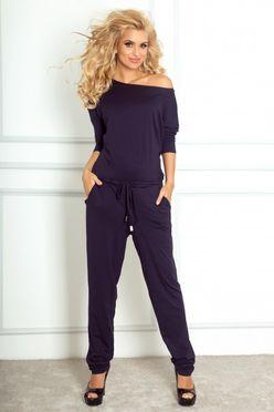 59a5f7285 Dvojdielný set kockovanej dámskej bluzky a nohavíc 96-05 - JOIE.SK