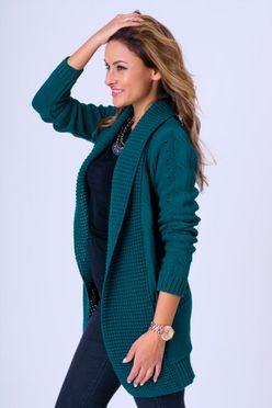 Tmavozelený dámsky sveter WERA