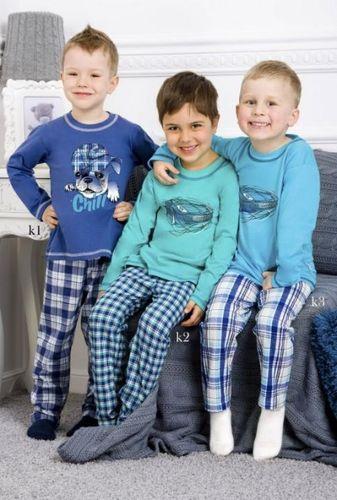 Tyrkysové chlapčenské pyžamo Damian 1034 k2
