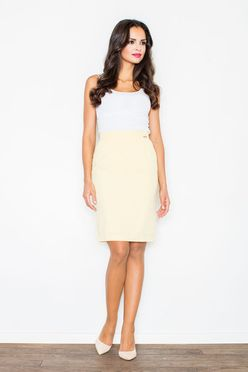 Žltá rovná dámska sukňa M308