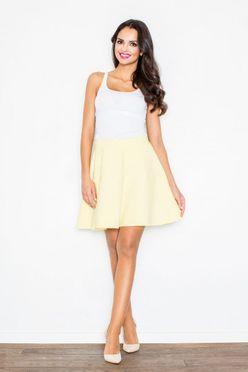 Žltá áčková dámska sukňa M285
