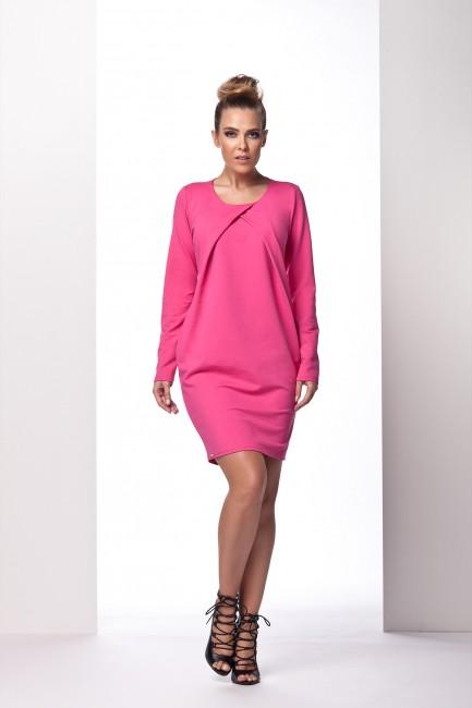 1cce1e3d1fca Ružové dámske šaty s preloženým dekoltom L100 - JOIE.SK