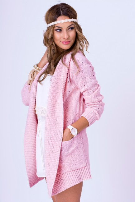 5da991adea64 Ružový dámsky sveter WERA zväčšiť obrázok