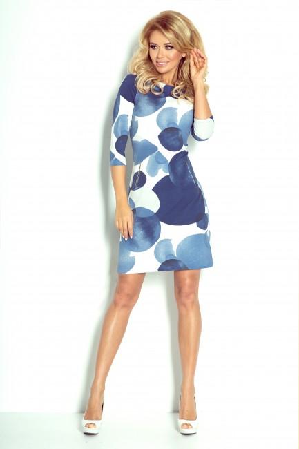 Krátke dámske šaty MODRÉ KRUHY zväčšiť obrázok b7b134f3124