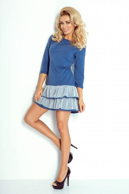 b68e4bf1adb4 Krátke šaty s volánovou sukňou 106-1 - JOIE.SK