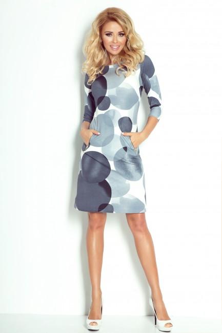 702990c9af9d Elegantné dámske šaty SIVÉ KRUHY - JOIE.SK