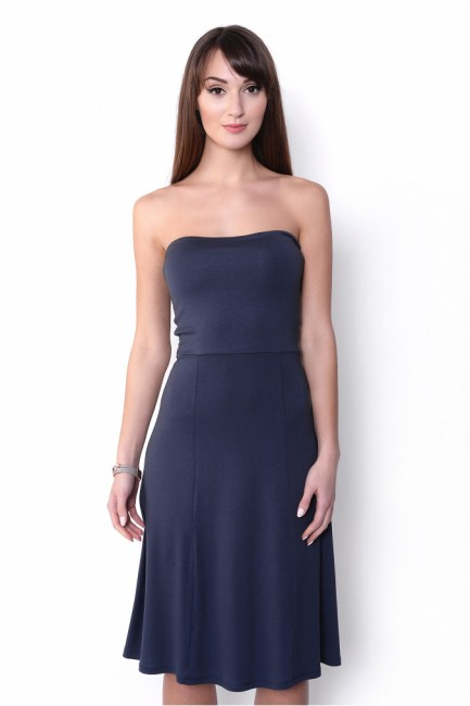 dc3d490384f4 Modrá sukňa šaty 2v1 OX8205 - JOIE.SK