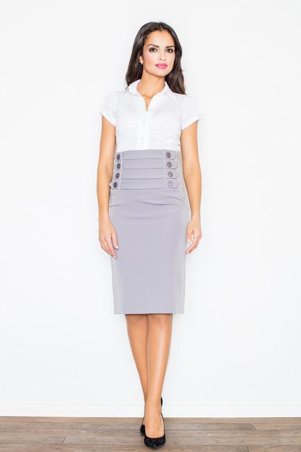 8cbe198f27fb Sivá puzdrová sukňa s vysokým pásom M036 zväčšiť obrázok