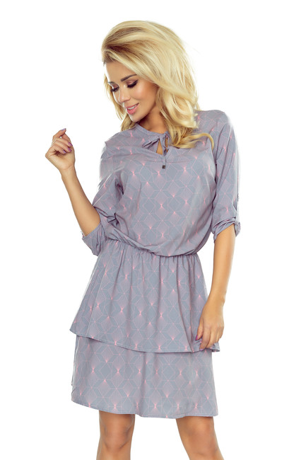 Sivé dámske šaty TINA s neónovým vzorom 182-2 zväčšiť obrázok cd3bf7dee9d