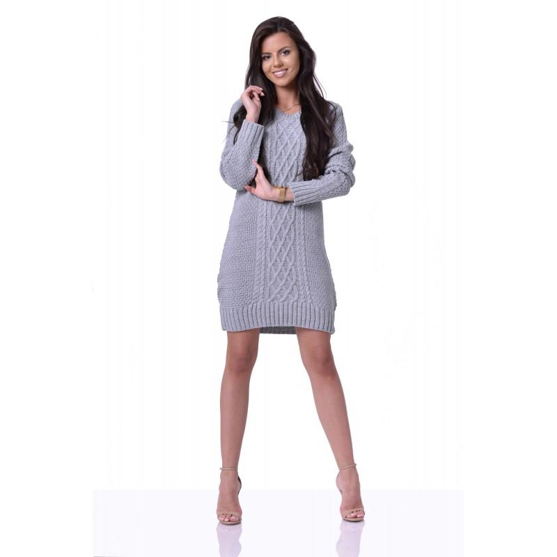166fe9c32a16 Sivé pletené dámske šaty ANABELL zväčšiť obrázok