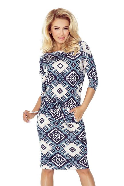 Športové dámske šaty s modrým vzorom 13-59 zväčšiť obrázok acbb8f949bc