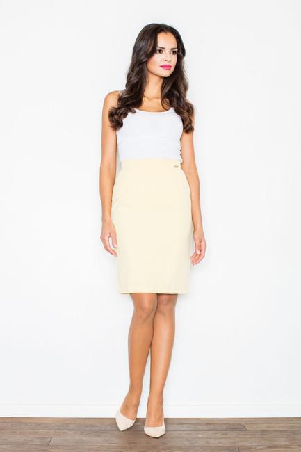 58207b8207c8 Žltá rovná dámska sukňa M308 - JOIE.SK